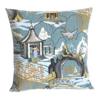 Robert Allen Asian Pagoda Motif Pillow Cover