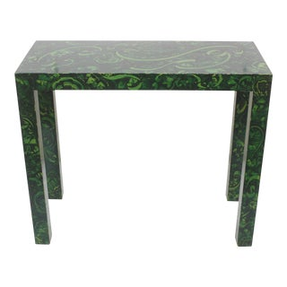 Parsons Console Table with Faux Malachite Finish / Decorative Paint