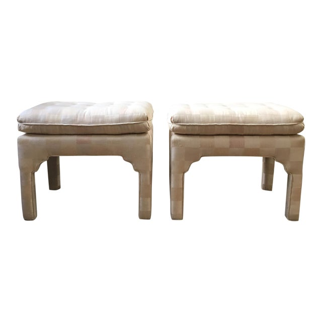 Tufted moroccan style ottoman benches pair chairish Moroccan bench