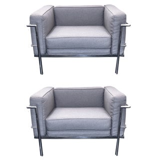 Le Corbusier LC3 Style Chairs - A Pair