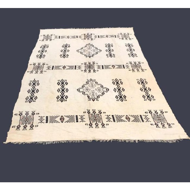 Vintage Native American Rare Blanket Hand Woven - Image 6 of 11