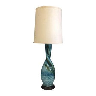Mid Century Ceramic Glazed Lamp