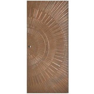 1960s Sherill Broudy Poured Bronze 'Sunburst' Door