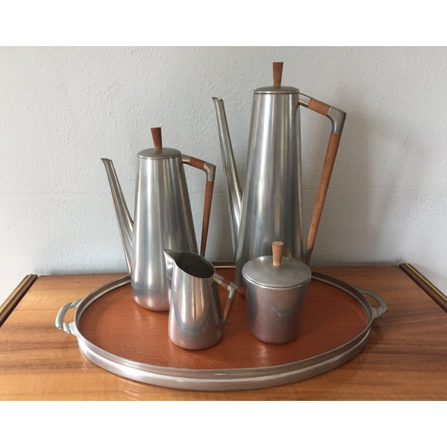 MCM Royal Holland Pewter Coffee/Tea Set for 5 - Image 2 of 5