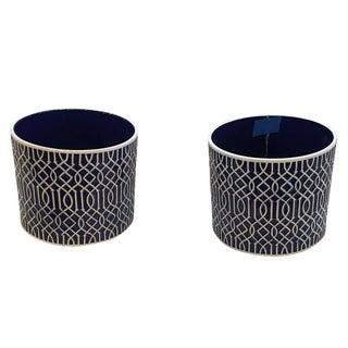 Cobalt Blue Cache Pots - A Pair