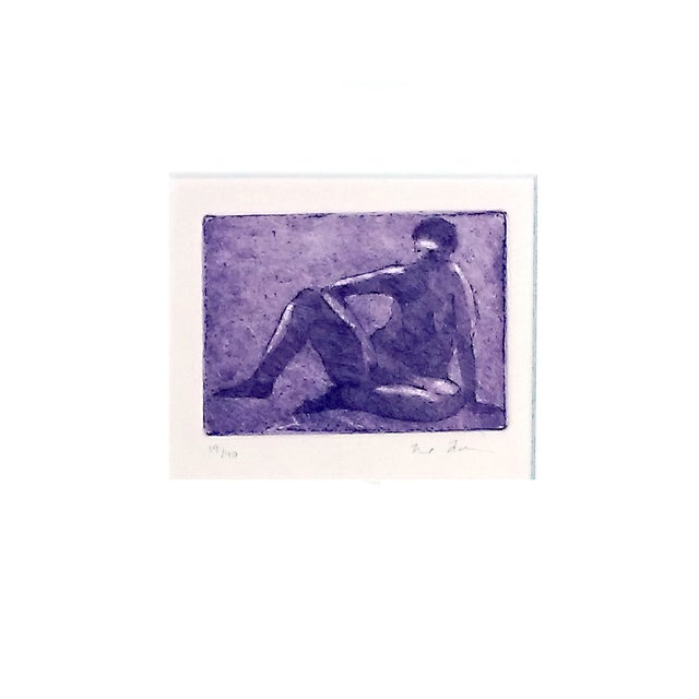 Rachel Foreman Monochrome Nude Etchings - Set of 3 - Image 9 of 11