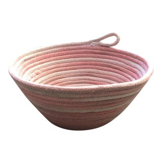 Handmade and Hand Dyed Pink Rope Bowl