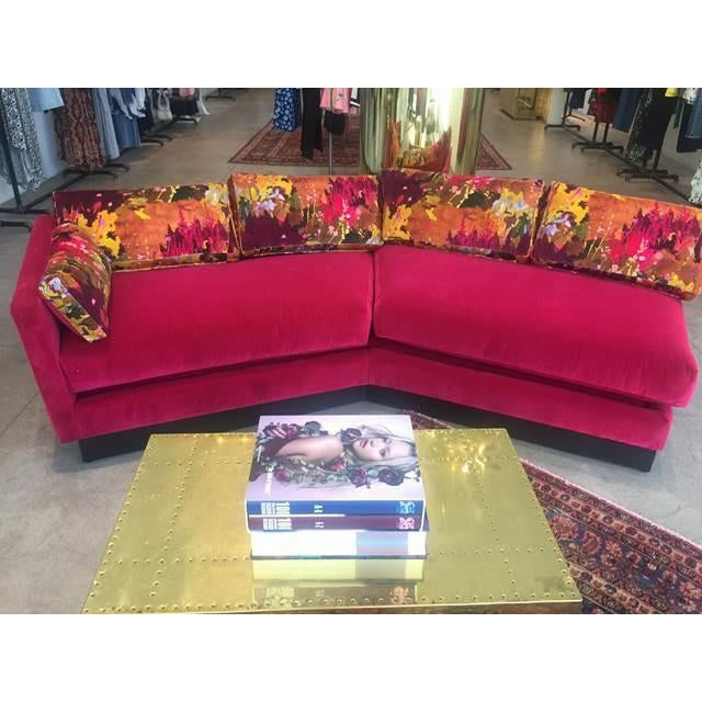 Mid Century Modern Milo Baughman Style Sectional Sofa - Image 6 of 8