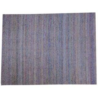 Sari Silk & Cotton Flatweave Rug - 9′ × 12′