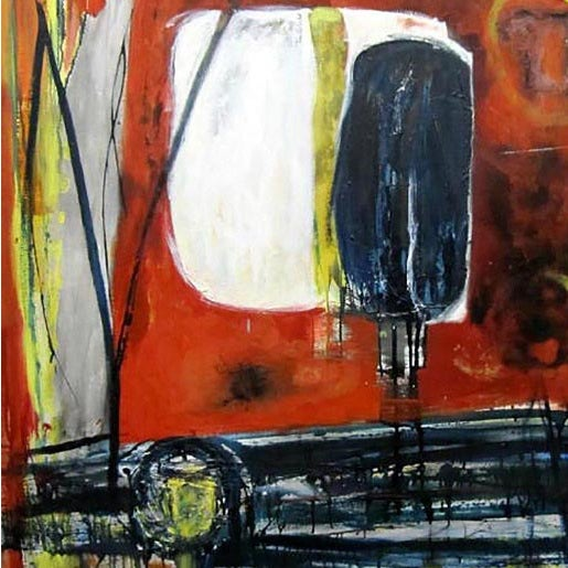 "1962 Clay Walker ""Red Table"" Oil on Canvas - Image 2 of 3"