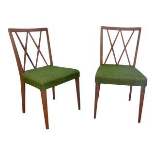 Mid-Century Modern Teak Chairs - A Pair