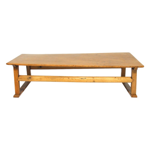 Chinese Rustic Carved Low Coffee Table - Image 1 of 6