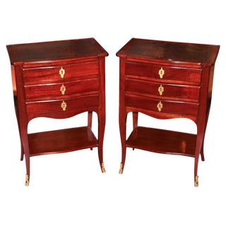 Pair of French Transitional Side Tables