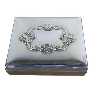 Baroque by Wallace Silver Plated Trinket Box