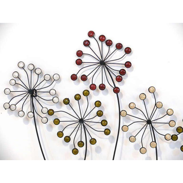 Beaded Floral Wall Sculpture - Image 3 of 8