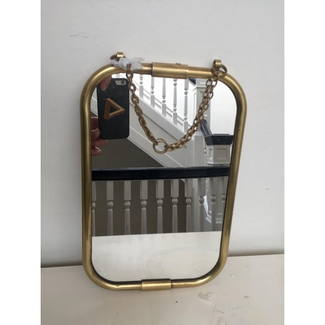 Art Deco Brass Mirror - Image 2 of 5