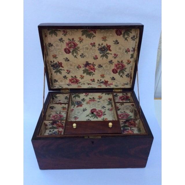 Antique Mahogany Sewing Box - Image 2 of 7