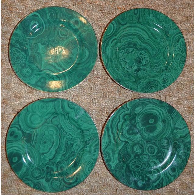 Image of Neiman Marcus Malachite Dessert/Tapas Plates - 4