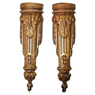 Gold-Plate French Mounts - A Pair