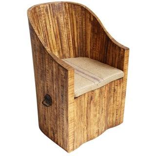 Reclaimed Oak Bucket Chair