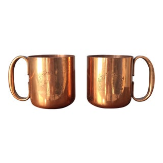 Vintage Copper Moscow Mule Mugs - A Pair