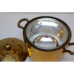 Image of Brass Ice Bucket with Glass Liner