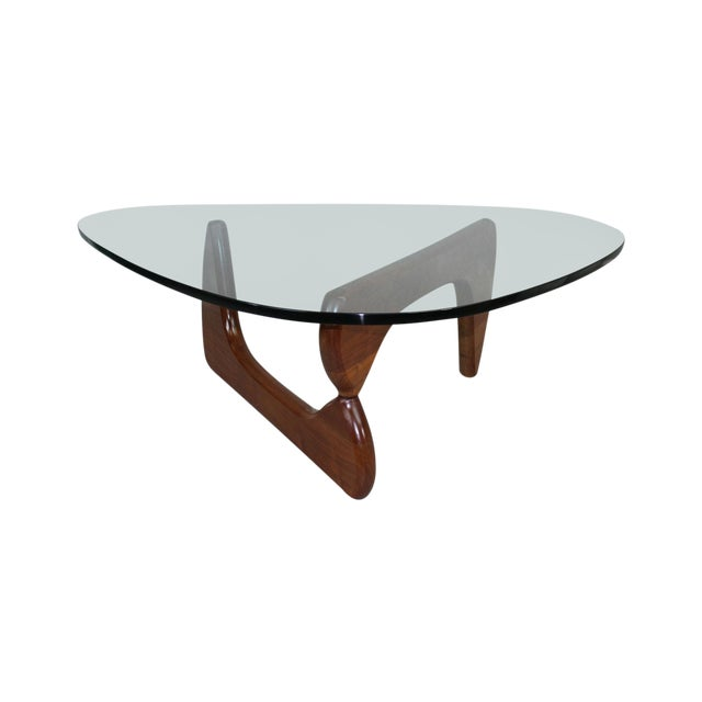 Isamu Noguchi Coffee Table With Walnut Base Chairish