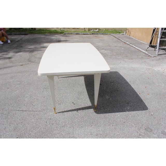 Stunning French Art Deco Mother-of-Pearl Dining Table or Writing Desks Circa 1940s - Image 5 of 11