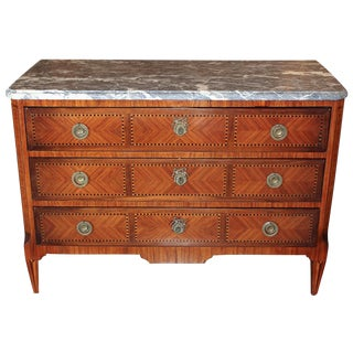French Transitional Inlaid Commode