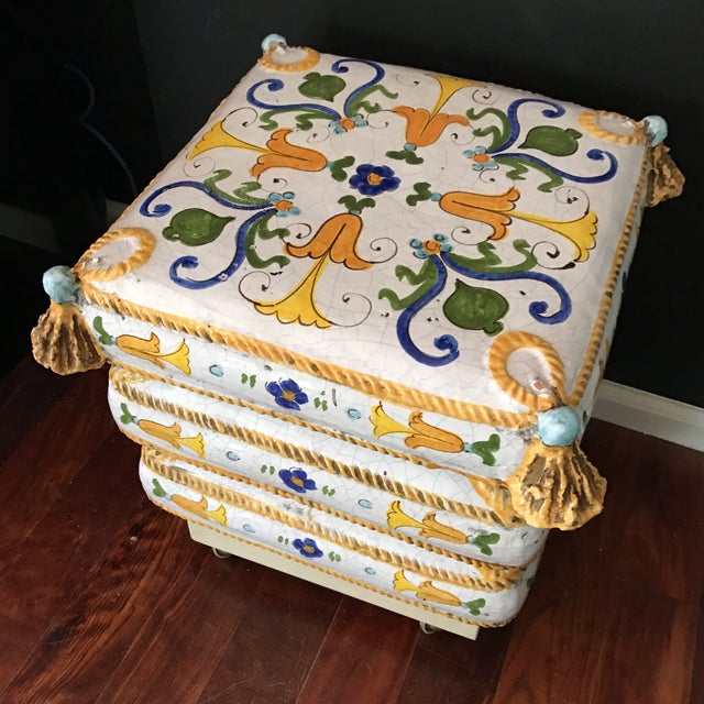 Ceramic Stacked Pillow Ottoman - Image 3 of 6