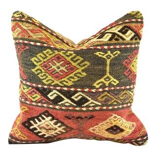 Antique Handmade Emroided Turkish Kilim Rug Cushion Cover