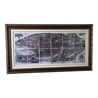 Black & White Frame Map of Rome