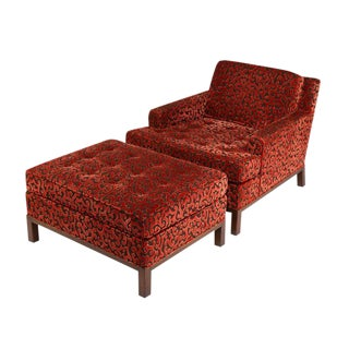 HARVEY PROBBER LOUNGE CHAIR AND OTTOMAN