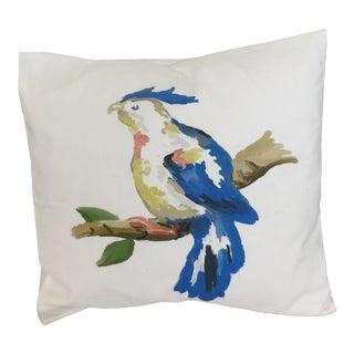 Dana Gibson Blue Parrot Pillow