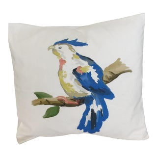 Dana Gibson Blue Parrot Pillow