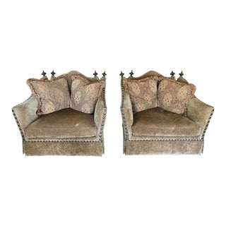 Marge Carson Style Club Chairs - A Pair