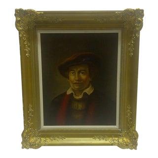 "Original ""Handsome Gent"" Oil Painting"