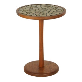 Gordon Martz Ceramic Tile Top Pedestal Occasional Table