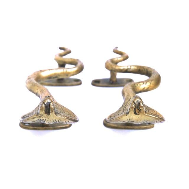 Image of Brass Cobra Door Handles - A Pair