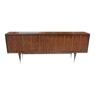 Monumental French Art Deco Exotic Macassar Ebony Sideboard / Buffet / Bar, circa 1940s