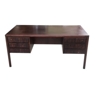 Model 77 Danish Modern Executive Rosewood Desk by Gunni Omann