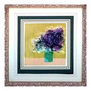 "Howard Bradford ""Lavender Arrangement"" Serigraph"