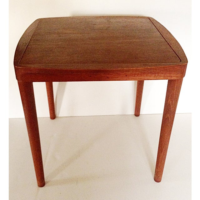 Mid-Century Side Table With Stool - Image 2 of 5