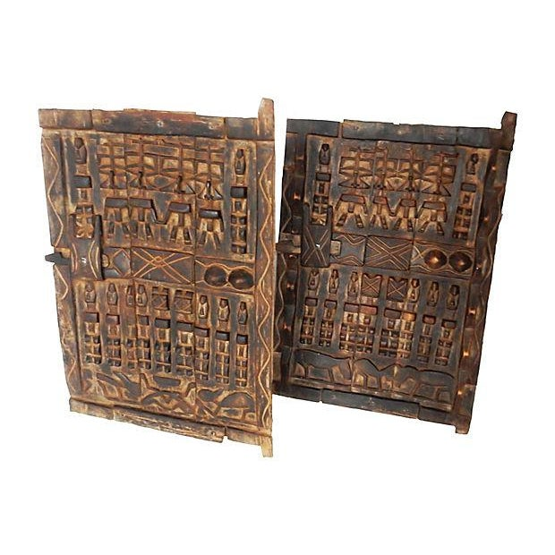 Image of African Dogon Granary Doors - A Pair