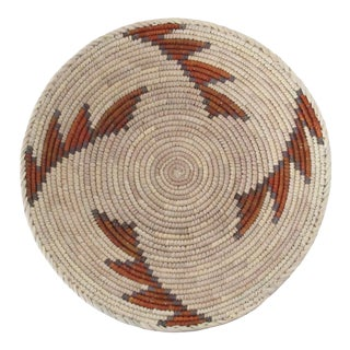 Native American Style Gray & Rust Step Basket
