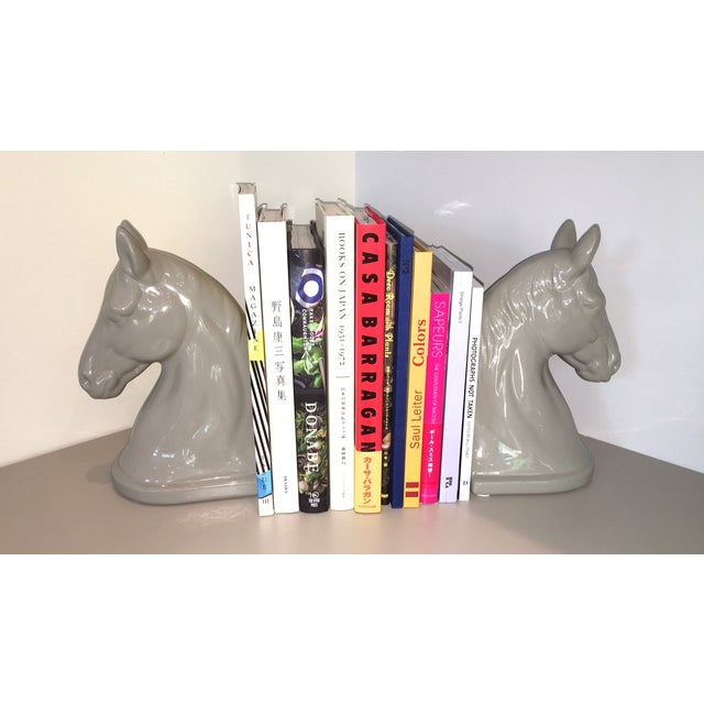 Image of Mid-Century Horse Head Bookends - A Pair