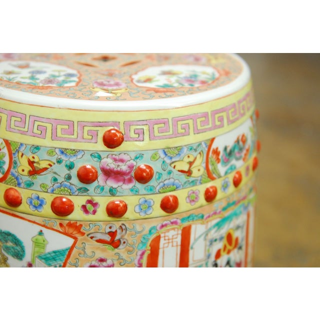 Chinese Hand-Painted Porcelain Garden Stool - Image 4 of 5