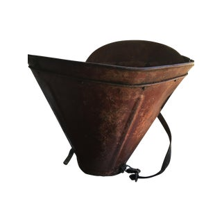 French Grape Harvesting Hod Basket
