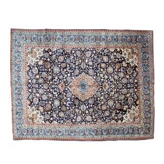 "Leon Banilivi Navy Persian Kashan Carpet - 9'8"" X 12'6"""