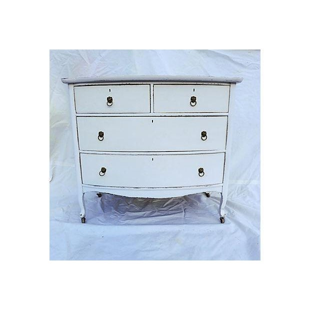 Antique Distressed White Painted Oak Dresser - Image 2 of 6